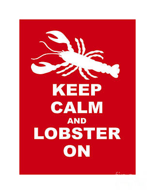 Book Quotes - Keep Clam And Lobster On by Julie Knapp