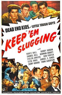 Keep Em Slugging, Us Poster, Top Art Print