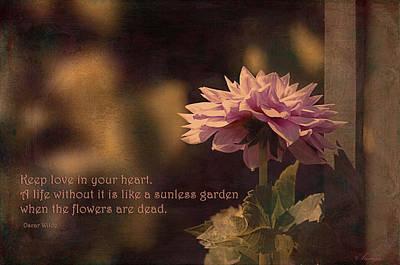 Oscar Wilde Digital Art - Keep Love In Your Heart by Maria Angelica Maira