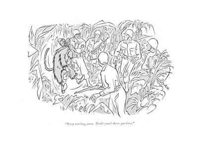 Jungle Drawing - Keep Moving by George Price