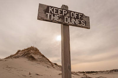 Island Beach State Park Photograph - Keep Off by Kristopher Schoenleber