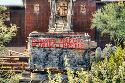 Photograph - Keep Off Trestle by Eddie Yerkish