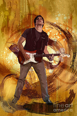 Music Digital Art - Keep On Rockin' by Bedros Awak
