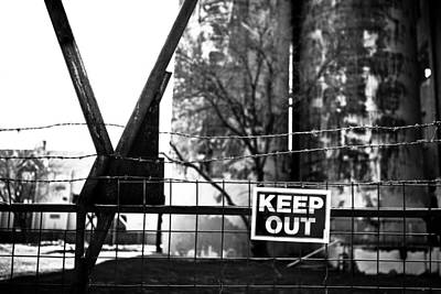 Photograph - Keep Out by Melinda Ledsome