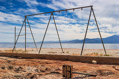 Photograph - Keep Out No Playing Here Swing Set Playground by Scott Campbell
