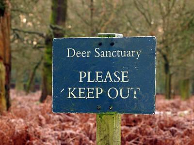 Dunham Massey Photograph - Keep Out. by Susan Tinsley