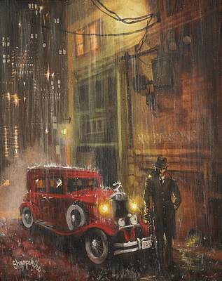 Chicago Painting - Keep The Motor Running by Tom Shropshire