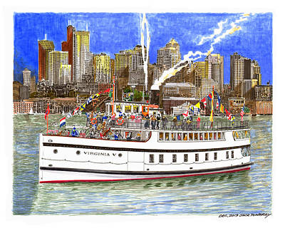 Seattles Steamship Virginia V Original