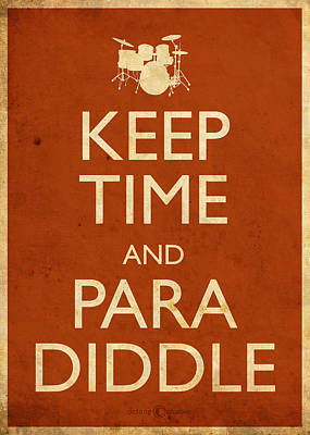Digital Art - Keep Time And Paradiddle Poster by Tim Nyberg