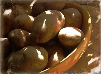 Keep Your Potatoes Art Print by Tg Devore