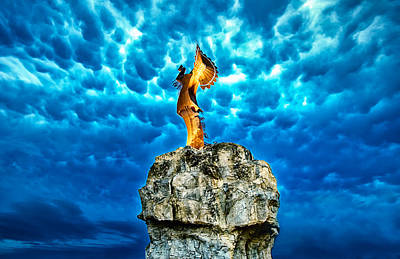Wichita Photograph - Keeper Of The Plains by  Caleb McGinn