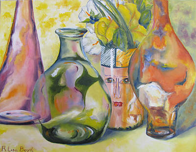 Vase Painting - Keeping An Eye On Things by Lisa Boyd