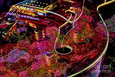 Keeping In Tune Digital Guitar Art By Steven Langston Art Print by Steven Lebron Langston