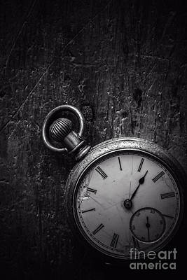 Keeping Time Black And White Art Print