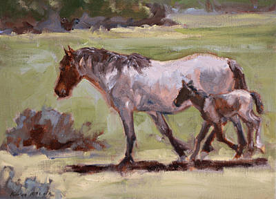 Painting - Keeping Up With Mom by Karen McLain