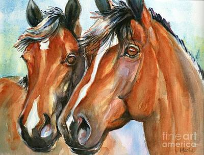 Horse Eye Painting - Horse Painting Keeping Watch by Maria's Watercolor