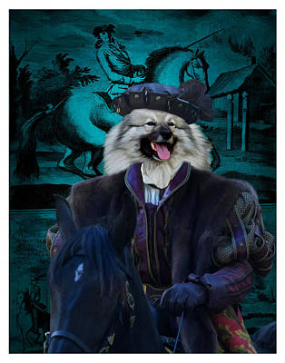 Painting - Keeshond - Wolfspitz Art Canvas Print by Sandra Sij