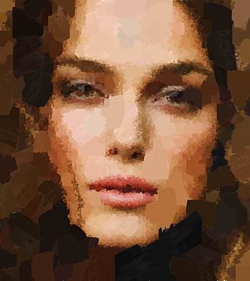Painting - Keira Knightley Potrait by Samuel Majcen