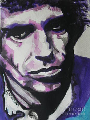 Music Paintings - Keith Richards by Chrisann Ellis