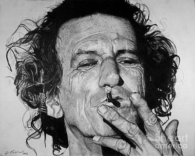 Keith Richards Art Print by Jeff Ridlen