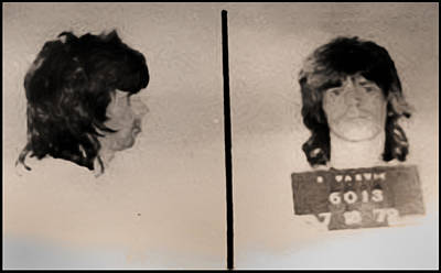 Mick Jagger And Keith Richards Photograph - Keith Richards Mugshot - Keith Don't Go by Bill Cannon