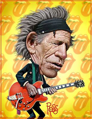 Digital Art - Keith Richards by Scott Ross