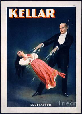 Reproduction Photograph - Kellar Levitation Vintage Magic Poster by Edward Fielding