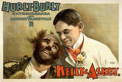 Kelly And Ashy, American Acrobatic Art Print by Photo Researchers