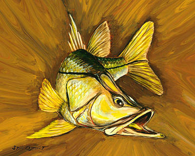 Painting - Kelly B's Snook by Steve Ozment