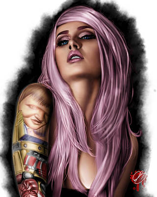 Painting - Kelly by Pete Tapang