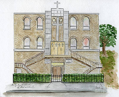 Kelly Temple Church In East Harlem Art Print by AFineLyne