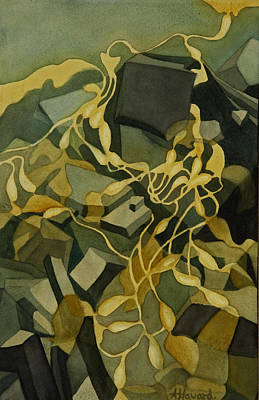Painting - Kelp-on-the-rocks by Anne Havard