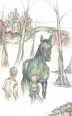 Kelpie Encounter Art Print by Danielle Sobol