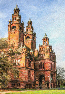 Digital Art - Kelvingrove Museum And Art Gallery by Liz Leyden