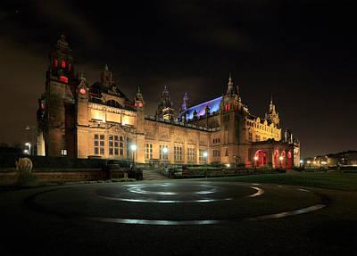 Night Scenes Photograph - Kelvingrove Museum by Grant Glendinning