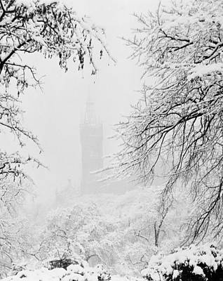 Snow-covered Landscape Photograph - Kelvingrove Park In The Snow, 1955 by British School