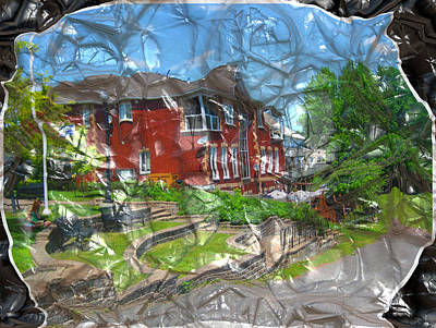 Manipulation Photograph - Kemptville Town Crumple by Mario Carini