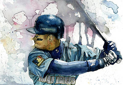 League Painting - Ken Griffey Jr. by Michael  Pattison