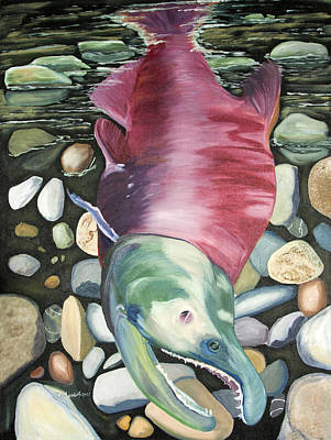Painting - Kenai Ded Red 2 by Amy Reisland-Speer