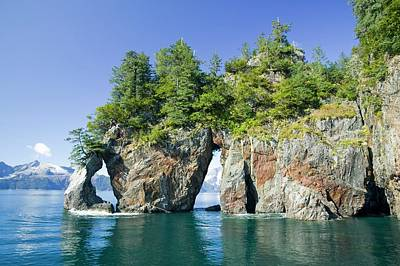 Sea Arch Photograph - Kenai Fjords by Ashley Cooper