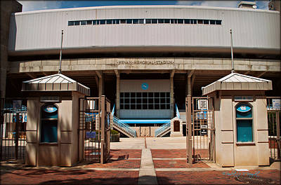Photograph - Kenan Memorial Stadium - Gate 6 by Paulette B Wright
