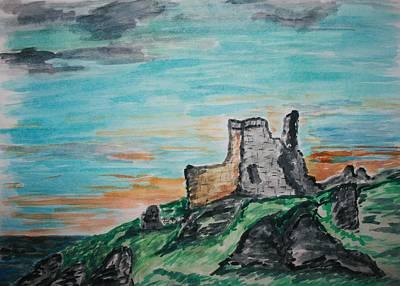 Paul Morgan Painting - Kenbane Castle by Paul Morgan