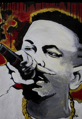 Quinn Painting - Kendrick by Nic The Artist