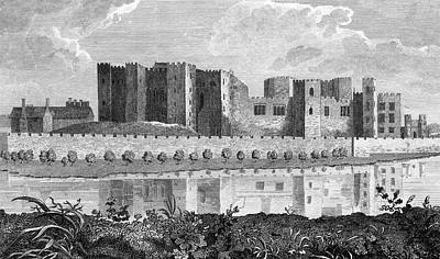 Kenilworth Castle Wall Art - Drawing - Kenilworth Castle A Exterior View by Mary Evans Picture Library