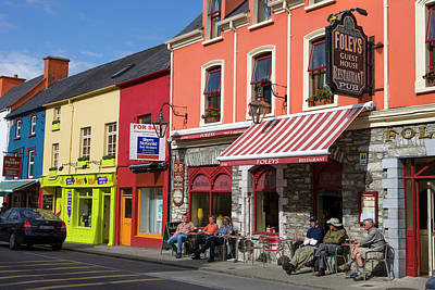 Multihued Photograph - Kenmare County Kerry Ireland Shop Fronts by Tom Norring