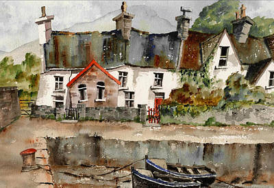 Painting - Kenmare Harbour  Kerry by Val Byrne