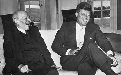 Clements Photograph - Kennedy And Lord Clement Atlee by Underwood Archives