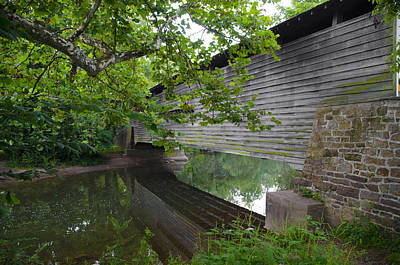 Kennedy Bridge On French Creek Print by Bill Cannon