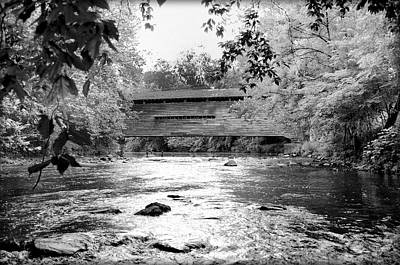 Kennedy Covered Bridge - Infrared Art Print by Bill Cannon