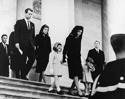 Medium Group Of People Photograph - Kennedy Funeral by Underwood Archives  Abbie Rowe